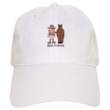 Best Friends Horse Cowgirl Baseball Cap