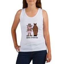 Best Friends Horse Cowgirl Women's Tank Top