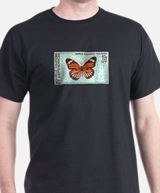 New Caledonia Monarch Butterfly Stamp T-Shirt