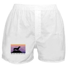 dachshund dog purple mt. Boxer Shorts