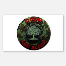 DOOM AND BLOOM CAMO DESIGN Sticker (Rectangle)