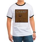 OYOOS Champ Dog design Ringer T