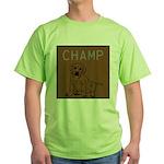 OYOOS Champ Dog design Green T-Shirt