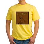 OYOOS Champ Dog design Yellow T-Shirt