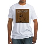 OYOOS Champ Dog design Fitted T-Shirt