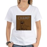 OYOOS Champ Dog design Women's V-Neck T-Shirt