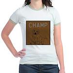 OYOOS Champ Dog design Jr. Ringer T-Shirt