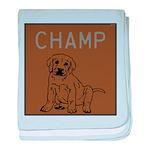 OYOOS Champ Dog design baby blanket