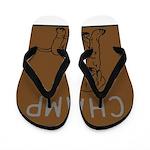 OYOOS Champ Dog design Flip Flops