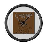 OYOOS Champ Dog design Large Wall Clock