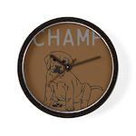 OYOOS Champ Dog design Wall Clock