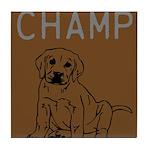 OYOOS Champ Dog design Tile Coaster