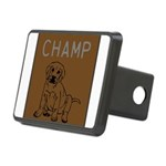 OYOOS Champ Dog design Rectangular Hitch Cover