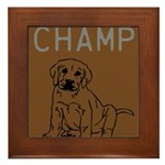 OYOOS Champ Dog design Framed Tile