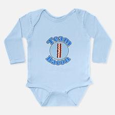 Team bacon 1.png Long Sleeve Infant Bodysuit