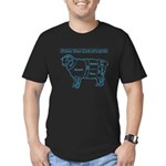 Know Your Cuts of Lamb Men's Fitted T-Shirt (dark)