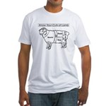Know Your Cuts of Lamb Fitted T-Shirt
