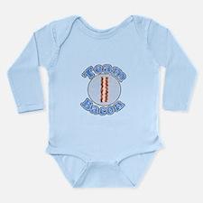 Vintage Team bacon 1.png Long Sleeve Infant Bodysu