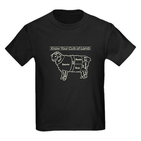 Know Your Cuts of Lamb Kids Dark T-Shirt