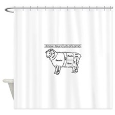 Know Your Cuts of Lamb Shower Curtain