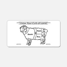 Know Your Cuts of Lamb Aluminum License Plate
