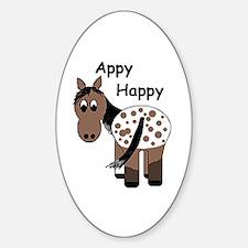 Appy Happy, Sticker (Oval)