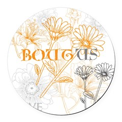 OYOOS Bout Us Love design Round Car Magnet