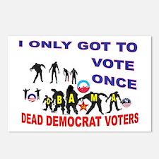 VOTER DEMOCRAT FRAUD Postcards (Package of 8)