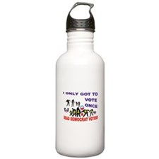 VOTER DEMOCRAT FRAUD Water Bottle