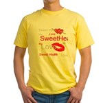 OYOOS Swee Heart design Yellow T-Shirt