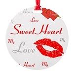 OYOOS Swee Heart design Round Ornament