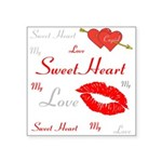 OYOOS Swee Heart design Square Sticker 3