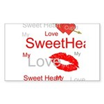 OYOOS Swee Heart design Sticker (Rectangle 50 pk)