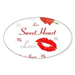 OYOOS Swee Heart design Sticker (Oval)
