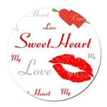 OYOOS Swee Heart design Round Car Magnet