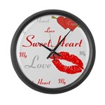 OYOOS Swee Heart design Large Wall Clock