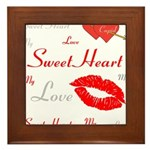 OYOOS Swee Heart design Framed Tile