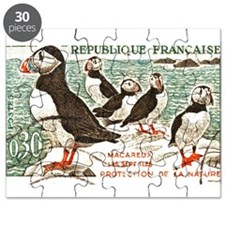 France Atlantic Puffin Stamp 1960 Puzzle