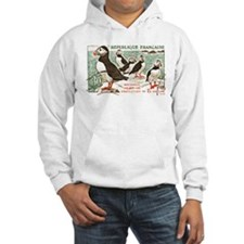 France Atlantic Puffin Stamp 1960 Hoodie