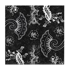 Dreams in Black and White Tile Coaster