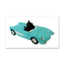 Cat Driving Car Rectangle Car Magnet
