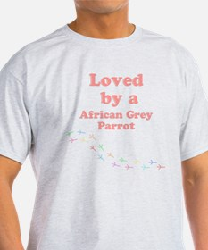 Loved by aAfrican Grey Parrot T-Shirt