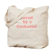 Loved by a Cockatiel Tote Bag