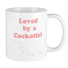 Loved by a Cockatiel Small Mug