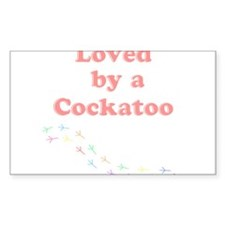 Loved by a Cockatoo Decal