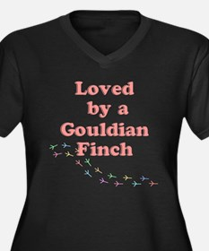 Loved by a Gouldian Finch Women's Plus Size V-Neck