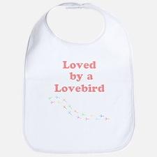 Loved by a Lovebird Bib
