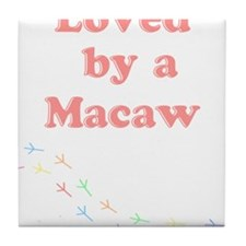 Loved by a Macaw Tile Coaster