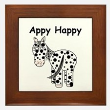 Appy Happy, Leopard Appaloosa Framed Tile