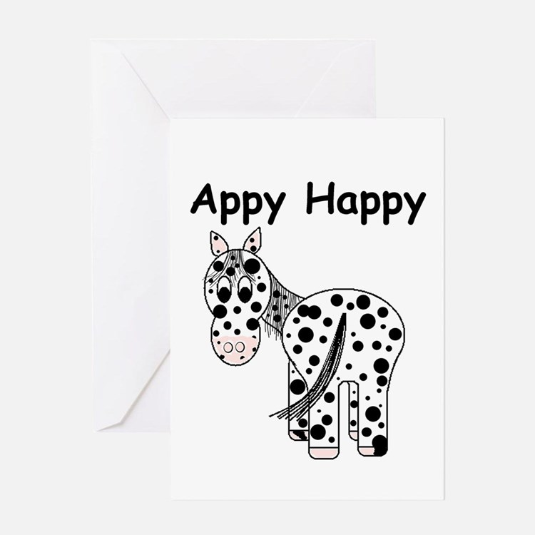 Appy Happy, Leopard Appaloosa Greeting Card